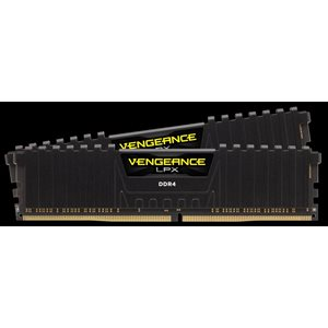 CORSAIR 16GB (KIT OF 2) 2400MHZ DDR4 DIMM 16-16-16-39 VENGEANCE LPX BLACK HEAT 1.20V