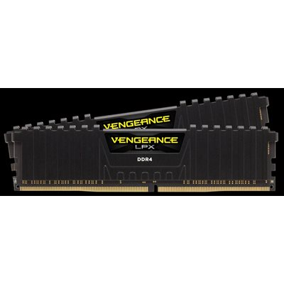 CORSAIR 32GB (KIT OF 2) 2666MHZ DDR4 DIMM 16-18-18-35 VENGEANCE LPX BLACK HEAT 1.2V
