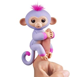 WOWWEE Fingerlings Baby Monkey - 2tone- Sydney (Purple & Pink)