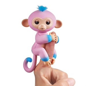 WOWWEE Fingerlings Baby Monkey - 2tone - Candi (Pink & Blue)