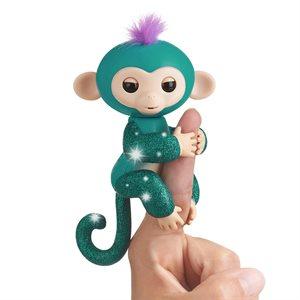 WOWWEE Fingerlings Baby Monkey - Glitter -  Amelia (Turquoise)
