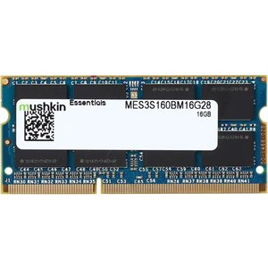 MUSHKIN ESSENTIALS 16GB DDR3 SODIMM PC3L-12800 2Rx8