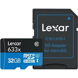 LEXAR # 32GB HIGH-PERFORMANCE 633X MICROSDHC/MICROSDXC UHS-I