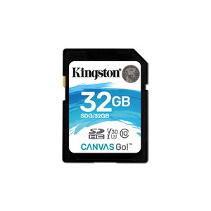 Kingston 32GB SDHC Canvas Go 90R/45W CL10 U3 V30 (Canada Retail)