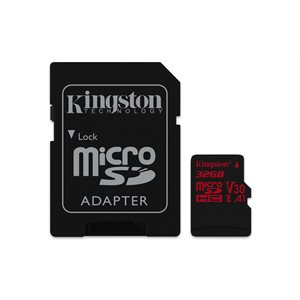 Kingston 32GB microSDHC Canvas React 100R/70W U3 UHS-I V30 A1 Canada Retail