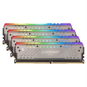 CRUCIAL 64GB Kit (16GBx4) RGB DDR4 2666 MT/s (PC4-21300) CL16 DR x8 Unbuffered DIMM 288pin