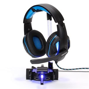 ACCESSORY POWER ENHANCE Gaming Headset Stand and 4-Port USB Hub RGB