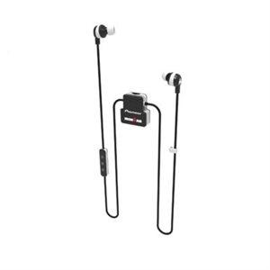 PIONEER IronMAN - Écouteur Sport Bluetooth sans-fil avec Microphone [IPX4 résistant eau/sueur] (noir/blanc)