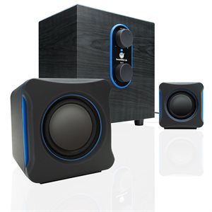 ACCESSORY POWER GOgroove SonaVERSE LBr USB Powered 2.1 Computer Speakers*Grey*