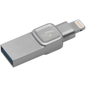 Kingston 64GB Bolt iPhone, iPad photo/video storage:lightning,USB 3.0 (Compatible, Non-proprietary)