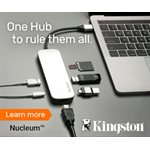 Concentrateur Kingston Nucleum - USB-C - USB-A 3.0/HDMI 4K/SD/MicroSD/USB-C