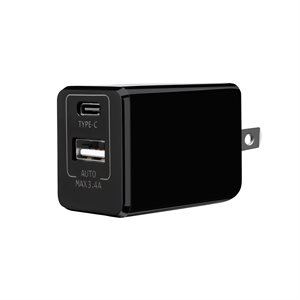 POWEROLOGY Dual QC 3.0 Travel Charger* BLACK*
