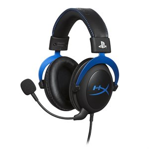 HyperX - Cloud PlayStation Official Licensed f/PS4 Wired Stereo Gaming Headset-Blue/Black