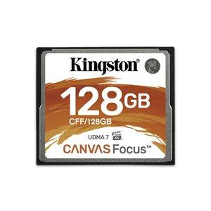 Carte CompactFlash 128GO Kingston Canvas Focus (jusqu'à 150L/130E) UDMA7 VPG-65