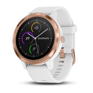 Garmin Vivoactive 3 GPS SMARTWATCH W/GARMIN PAY, WORLDWIDE  WHITE WITH ROSE GOLD HARDWARE