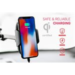 Adonit Auto-Clamping Wireless Car Charger (Qi certified, fast charging up to 10w)