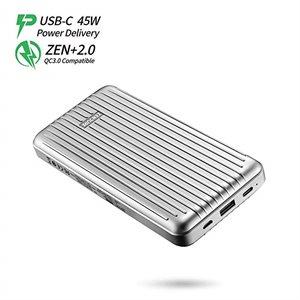 Zendure A6PD - Batterie portable 20000 mAh USB-C QC 3.0 Crush-Proof  (Silver)