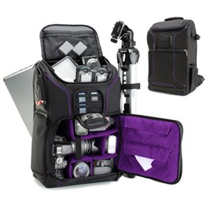 ACCESSORY POWER USA GEAR Professional DSLR Camera and Laptop Backpack  PURPLE