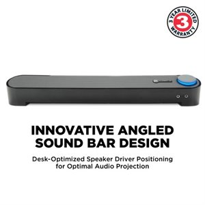 ACCESSORY POWER GOgroove SonaVERSE UBR Computer Sound Bar Speaker System BLACK