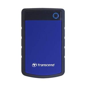 Disque dur externe Transcend de 4TB 2.5'' USB 3.0 Storejet H3P avec finition anti-chocs - Bleu