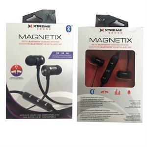 XTREME Magnetix Bluetooth Metal Earbuds Black