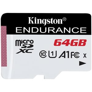 Kingston 64GB microSDXC Endurance 95R/30W C10 A1 UHS-I Canada Retail