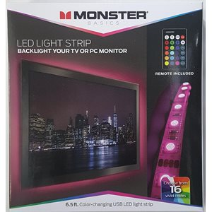 MONSTER 6.5FT Color Changing USB LED Light Strip with Remote *ENG ONLY*