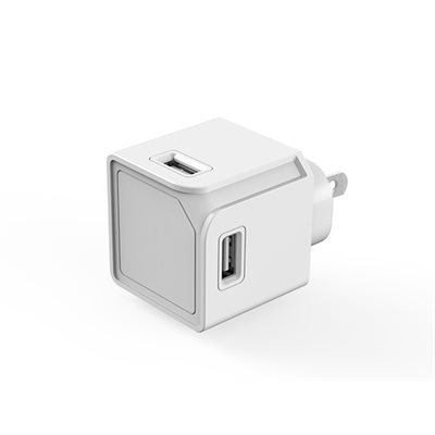 USBcube Original COMPACT 4x USB-A HOME CHARGER WHITE  MAC 3AMP