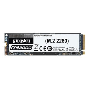 Kingston SSD 500GO KC2000 M.2 2280 NVMe PCIe gen3.0 x4