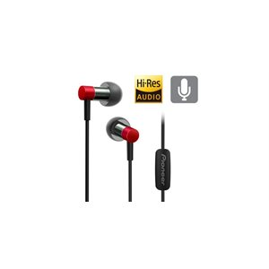 Pioneer SECH3TR HI-RES AUDIO SPECTRUM CERTIFIED  EARBUDS Silver/Red