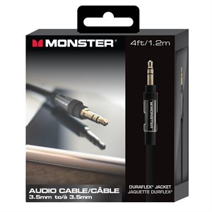 MONSTER Platinum 3.5 mm audio cable - 4 ft.