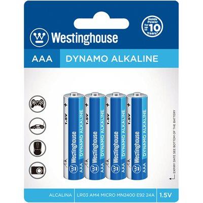 Westinghouse AAA Dynamo Alkaline  (4pcs blister)
