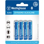 Batteries Westinghouse AAA Dynamo Alkaline (paquet 8)