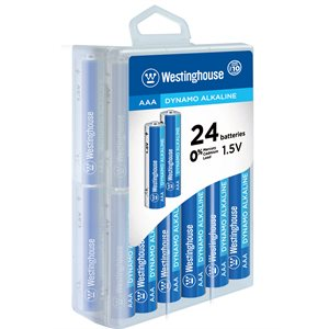 Westinghouse AAA Dynamo Alkaline  (24pcs in storage plastic box)