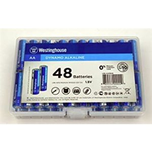 Westinghouse AA Dynamo Alkaline (48pcs in storage plastic box)