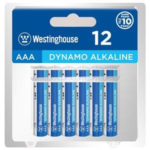 Westinghouse AAA Dynamo Alkaline  (12pcs in clamshell )