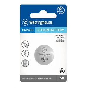 Westinghouse CR2430 3.0V lithium button cell (1 pc blister)