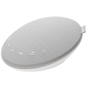 IHOME ZENERGY PORTABLE WHITE NOISE MACHINE W/BASS ENCHANCEMENT SPEAKER WHITE *ENGLISH ONLY