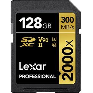 Lexar 128GB Pro SDHC 2000X RDR UII BL NA