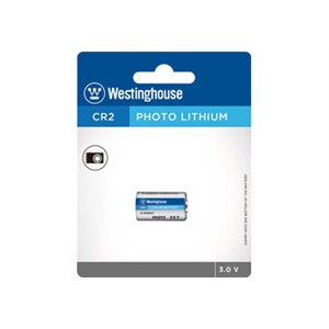 Westinghouse 24 x 1PK CR123A Lithium Button Cells  Blister Cards in a White Box
