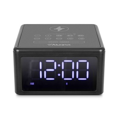 ALURATEK QI Wireless Charging FM Clock Radio with Bluetooth Streaming