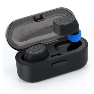 GOgroove BlueVIBE TWS Wireless Stereo Earbuds Bluetooth Headphones-Black