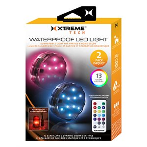 XTREME 2 Pack Waterproof LED Puck Lights with remote control