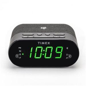 TIMEX TW500 Wireless & USB Charging FM Alarm Clock Radio BLK *English*