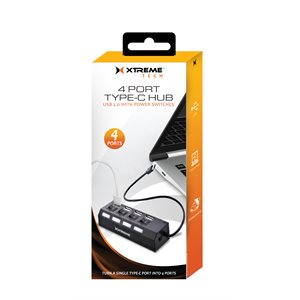 Xtreme 4 Port Type-C Hub USB 2.0 with