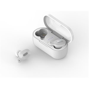 LAX Laud True Wireless  In-Ear Bluetooth Earbuds with Charging Case White