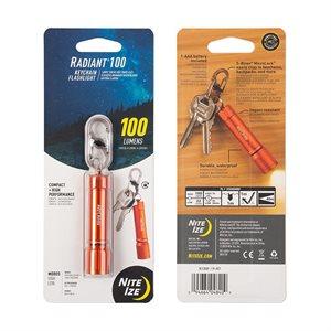 NITEIZE Radiant 100 Keychain Flashlight (100 Lumens) - Orange