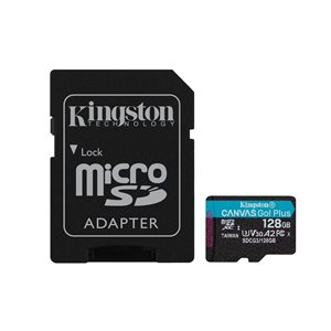 Kingston 128GB microSDXC Canvas Go Plus 170R A2 U3 V30 Card+ADP (Canada Retail)
