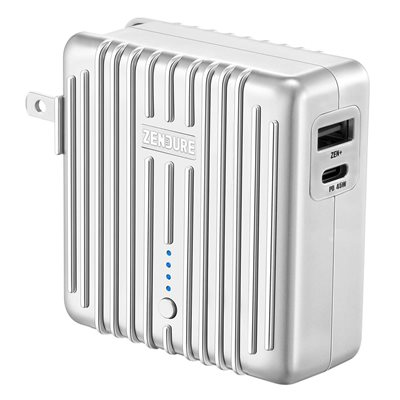 Zendure MIX GO 2-in-1 Power Bank and Charger with 45W PD (5,000mAh) Silver  ENG Only PKG