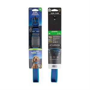 NiteIze NiteDog Rechargeable LED Collar - M - Blue/Blue LED